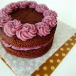 犬用デコレーションケーキ【キャロブと紫のデコレーションケーキ】