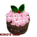 犬用クリスマスケーキレシピ【キャロブとラズベリーのミニデコレーションケーキ】