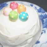 犬用クリスマスケーキレシピ【スノーボールケーキ】
