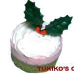 犬用クリスマスケーキレシピ【苺ムースのムース風ケーキ】