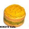 犬の米粉ケーキにかぼちゃでデコレーション☆
