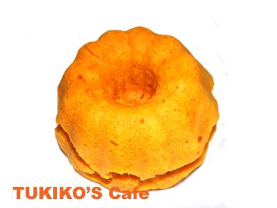 犬のオレンジ色ケーキ