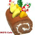 犬用クリスマスケーキレシピ【電子レンジでキャロブのブッシュドノエル】
