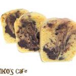 犬用マーブル蒸しケーキレシピメモ。フライパンで作るケーキ。