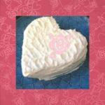犬用ケーキレシピ【犬用ホワイトハートケーキ】