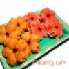紅麹の色違い、犬用桜のミニケーキ