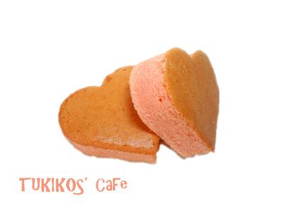 犬用カステラ桜ハートレシピ