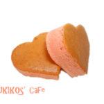 犬用ケーキレシピ【桜色のハートカステラ】