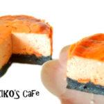 犬のハロウィンケーキレシピ【オレンジと黒のチーズ風ケーキ】