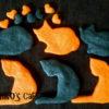 犬用ハロウィンクッキー【オレンジと黒の猫クッキーレシピ】