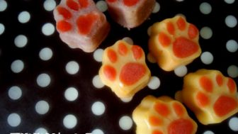 卵なし肉球ケーキと卵あり肉球ケーキ☆犬用ケーキ作り☆