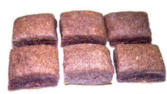 犬のクッキーレシピ【黒米スクエアクッキー】