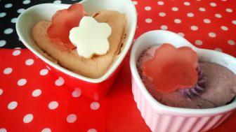 犬のグルテンフリーケーキレシピ【じゃがいもの蒸しケーキ(紅麹)】