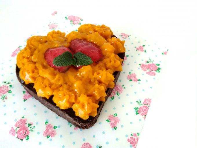 犬用ケーキイチゴかぼちゃキャロブ